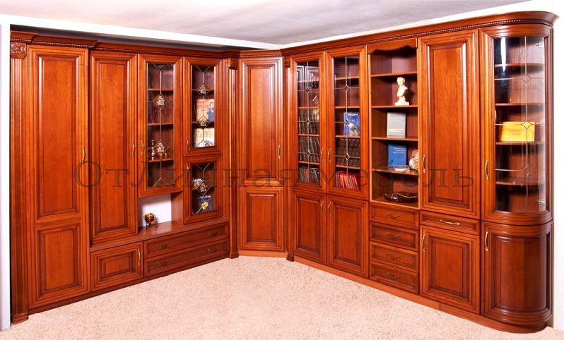 """Мебельная компания - библиотека """"фиренце"""" массив липы фасады."""
