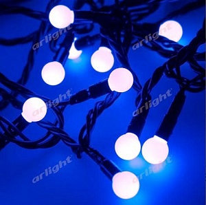 "Гирлянда ""ARD-BALL-CLASSIC-D13-10000-BLACK-100LED BLUE (230V, 7W)"""