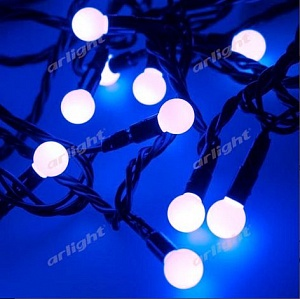 "Гирлянда ""ARD-BALL-CLASSIC-D13-5000-BLACK-50LED BLUE (230V, 3.5W)"""